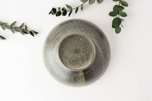 大鉢 灰釉粉引刻線 陶器 信楽焼 画像6