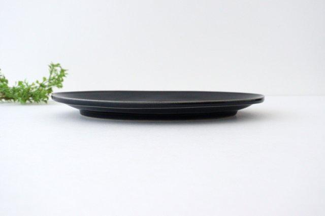 オーバルプレート L 紺 陶器 光泉窯 萬古焼 画像2