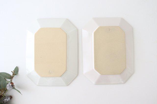 八角プレート L 白 陶器 光泉窯 萬古焼 画像3