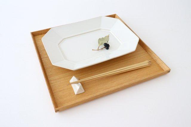 八角プレート L 白 陶器 光泉窯 萬古焼 画像5