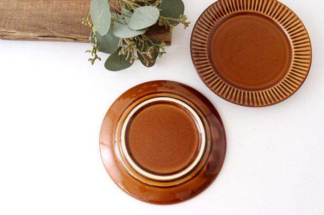 レリーフソーサー 茶 陶器 光泉窯 萬古焼 画像4