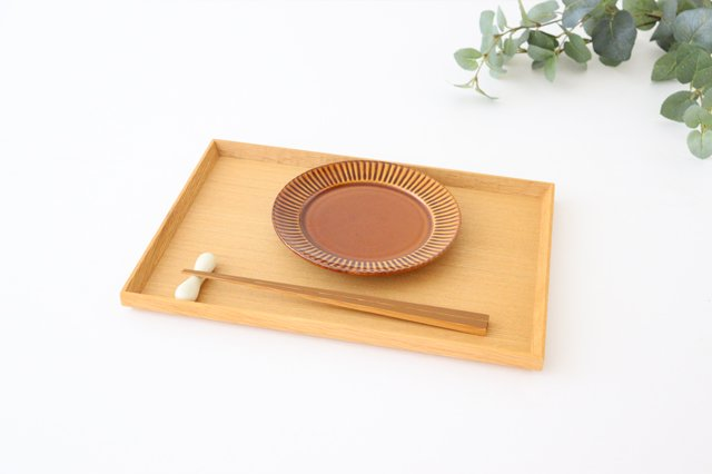 レリーフソーサー 茶 陶器 光泉窯 萬古焼 画像5