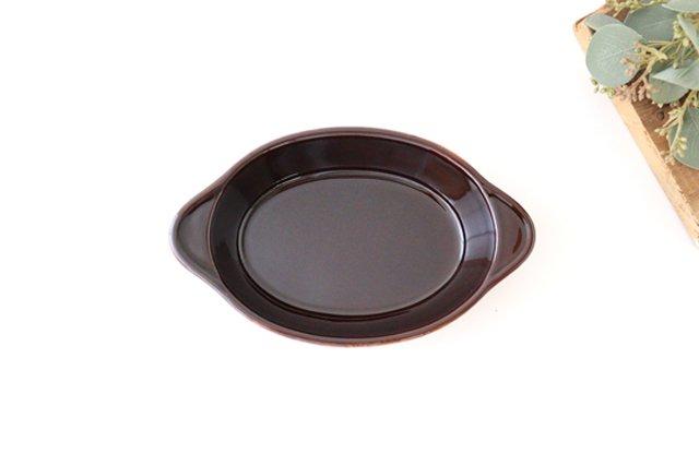 耐熱グラタン皿 マーガレット 茶 耐熱陶器 光泉窯 萬古焼 画像6