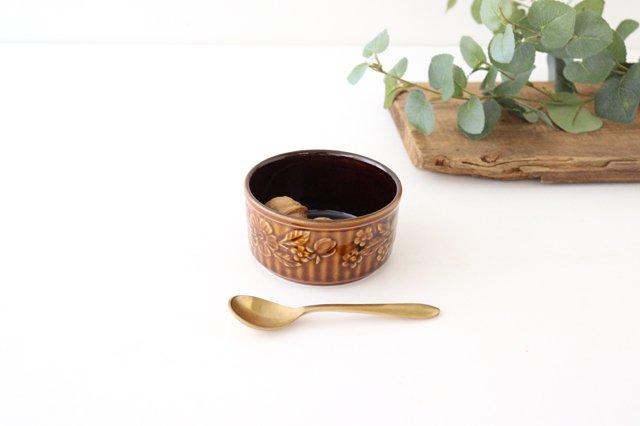 耐熱スフレ 小 マーガレット 茶 耐熱陶器 光泉窯 萬古焼