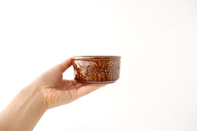 耐熱スフレ 小 マーガレット 茶 耐熱陶器 光泉窯 萬古焼 画像2