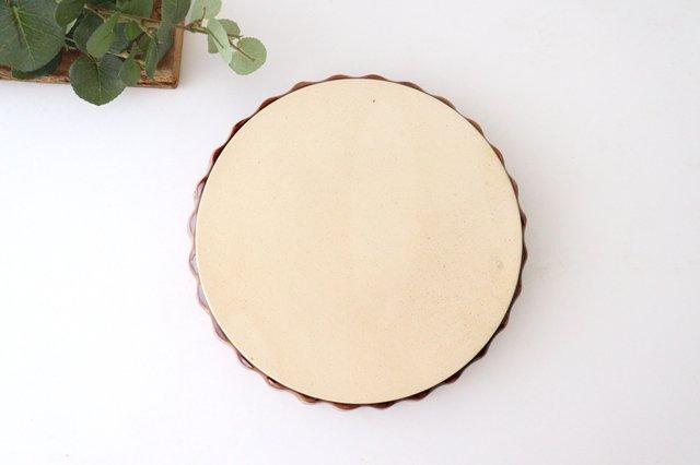 キッシュ皿 大 マーガレット 茶 耐熱陶器 光泉窯 萬古焼 画像6