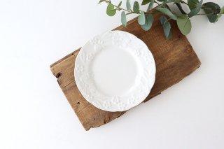 ケーキ皿 17� マーガレット 白マット 陶器 光泉窯 萬古焼商品画像
