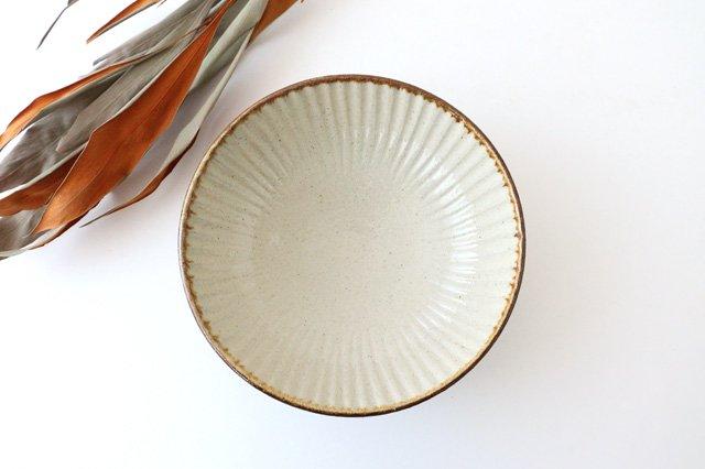 6寸鉢 しのぎ シマ 陶器 陶芸こまがた 駒形爽飛 やちむん