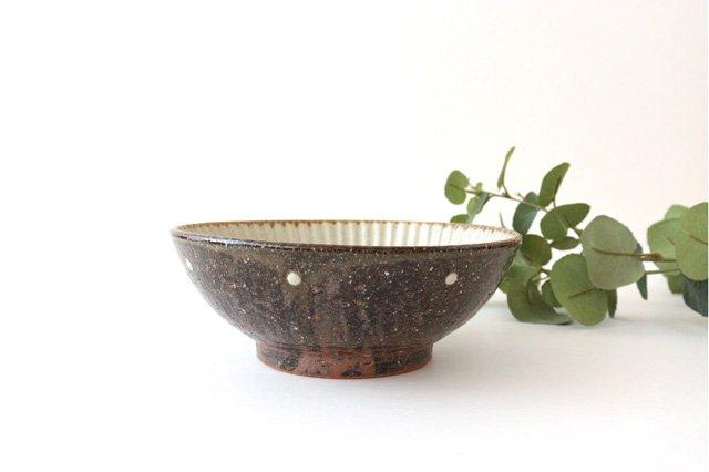 6寸鉢 しのぎ シマ 陶器 陶芸こまがた 駒形爽飛 やちむん 画像2