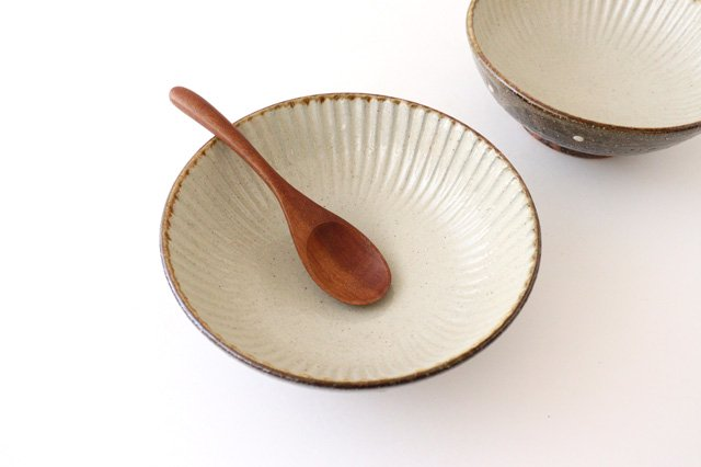 6寸鉢 しのぎ シマ 陶器 陶芸こまがた 駒形爽飛 やちむん 画像3