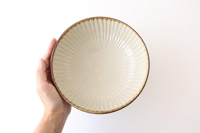 6寸鉢 しのぎ シマ 陶器 陶芸こまがた 駒形爽飛 やちむん 画像4