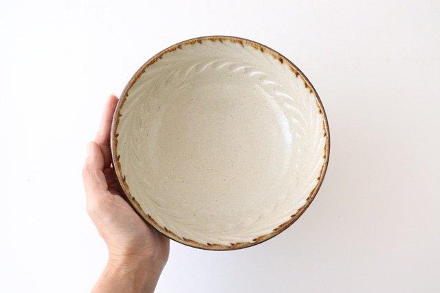 6寸鉢 しのぎ デイゴ 陶器 陶芸こまがた 駒形爽飛 やちむん 画像2
