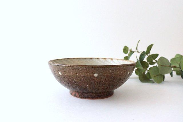 6寸鉢 しのぎ デイゴ 陶器 陶芸こまがた 駒形爽飛 やちむん 画像3