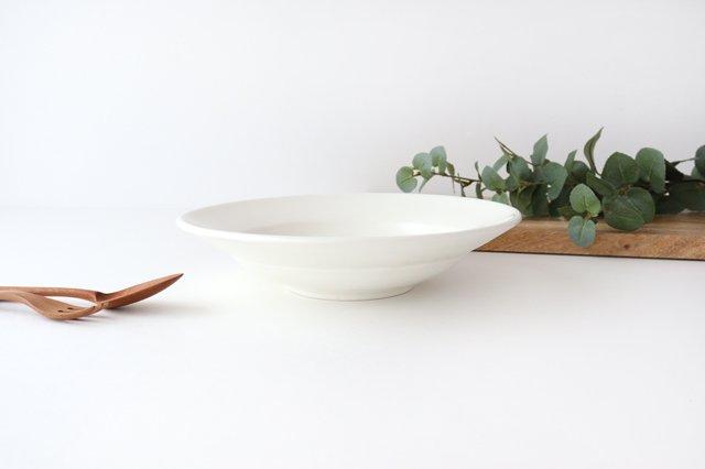 リムボウル L 白 陶器 光泉窯 萬古焼 画像5