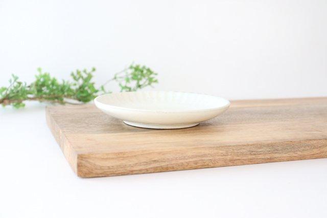取り皿 しのぎ 白 陶器 光泉窯 萬古焼 画像2