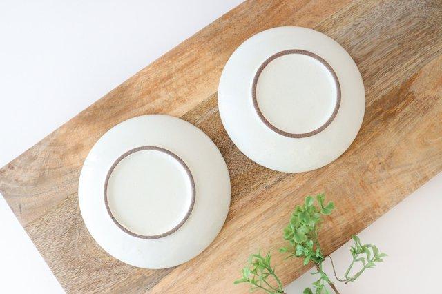 取り皿 しのぎ 白 陶器 光泉窯 萬古焼 画像3