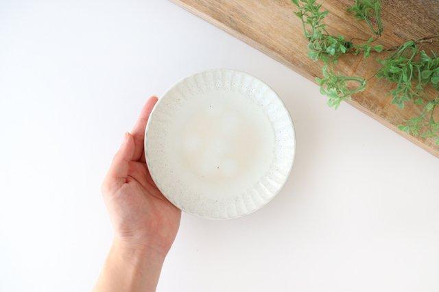 取り皿 しのぎ 白 陶器 光泉窯 萬古焼 画像4