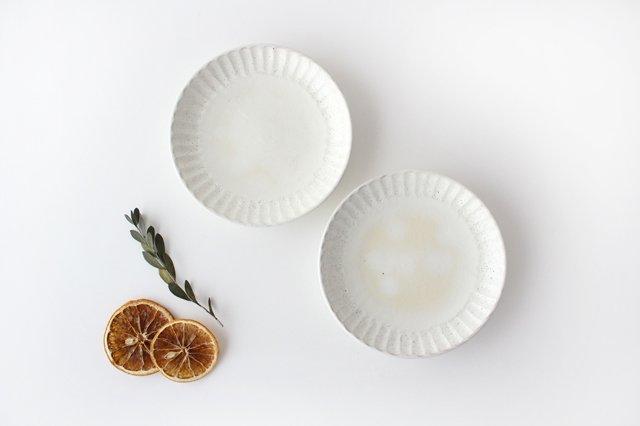 取り皿 しのぎ 白 陶器 光泉窯 萬古焼 画像5