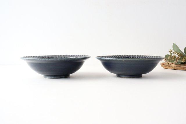 平鉢 紺 陶器 光泉窯 萬古焼 画像5