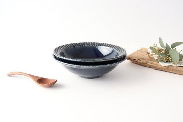 平鉢 紺 陶器 光泉窯 萬古焼 画像6