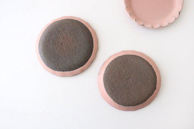 小皿 ピンク 陶器 信楽焼 画像2