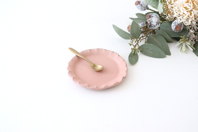 小皿 ピンク 陶器 信楽焼 画像5