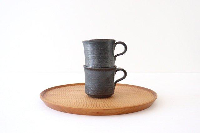 マグカップ 黒 陶器 信楽焼 画像4