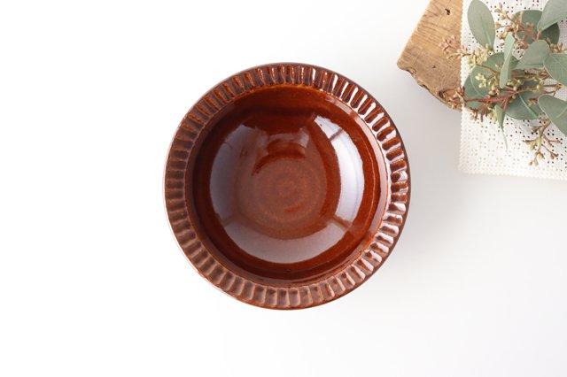 平鉢 茶 陶器 光泉窯 萬古焼 画像2