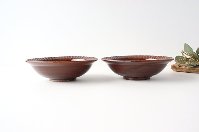 平鉢 茶 陶器 光泉窯 萬古焼 画像5