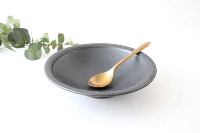 7寸平鉢 黒 陶器 信楽焼