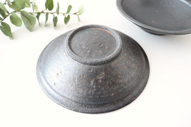 7寸平鉢 黒 陶器 信楽焼 画像3