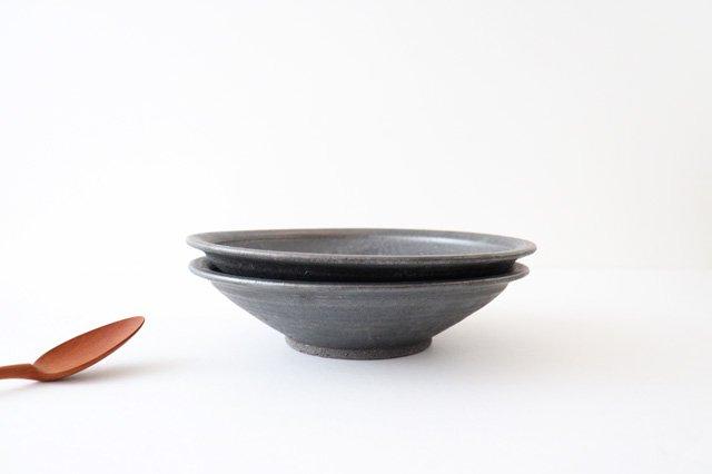7寸平鉢 黒 陶器 信楽焼 画像4