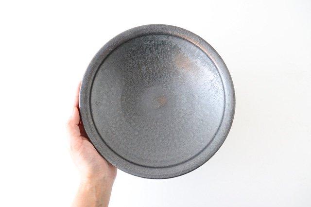 7寸平鉢 黒 陶器 信楽焼 画像5