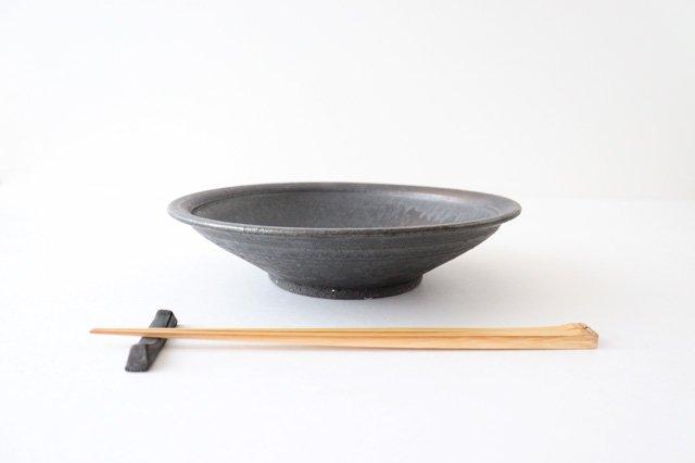 7寸平鉢 黒 陶器 信楽焼 画像6