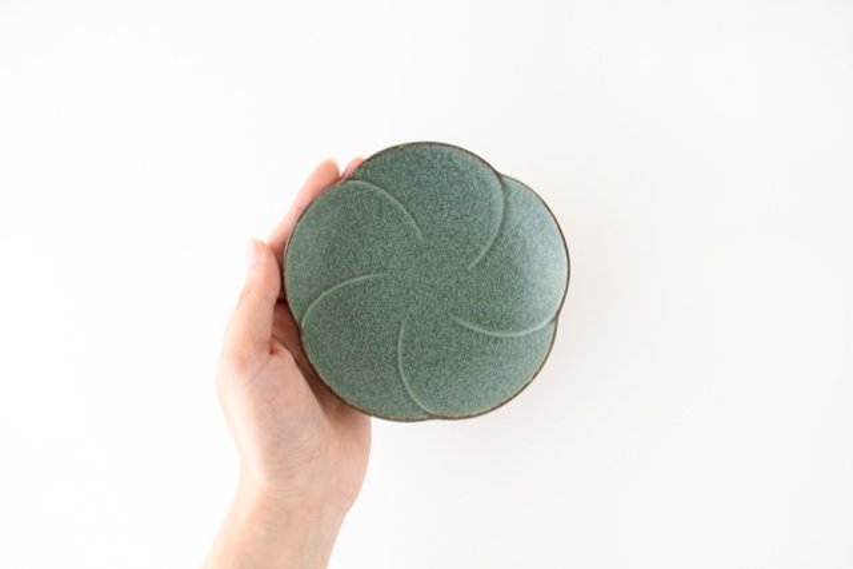 銘々皿 グリーン 磁器 kei 美濃焼 画像4