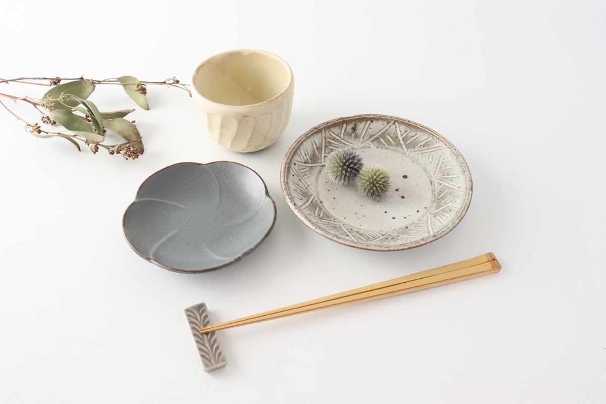 銘々皿 グレー 磁器 kei 美濃焼 画像2