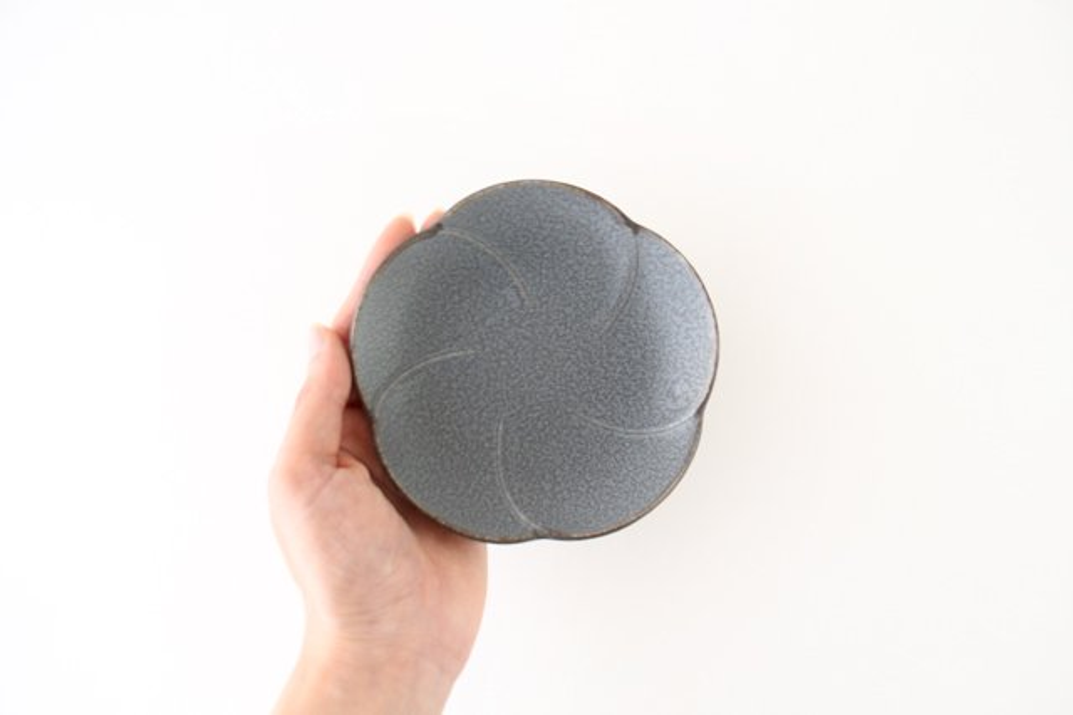 銘々皿 グレー 磁器 kei 美濃焼 画像4