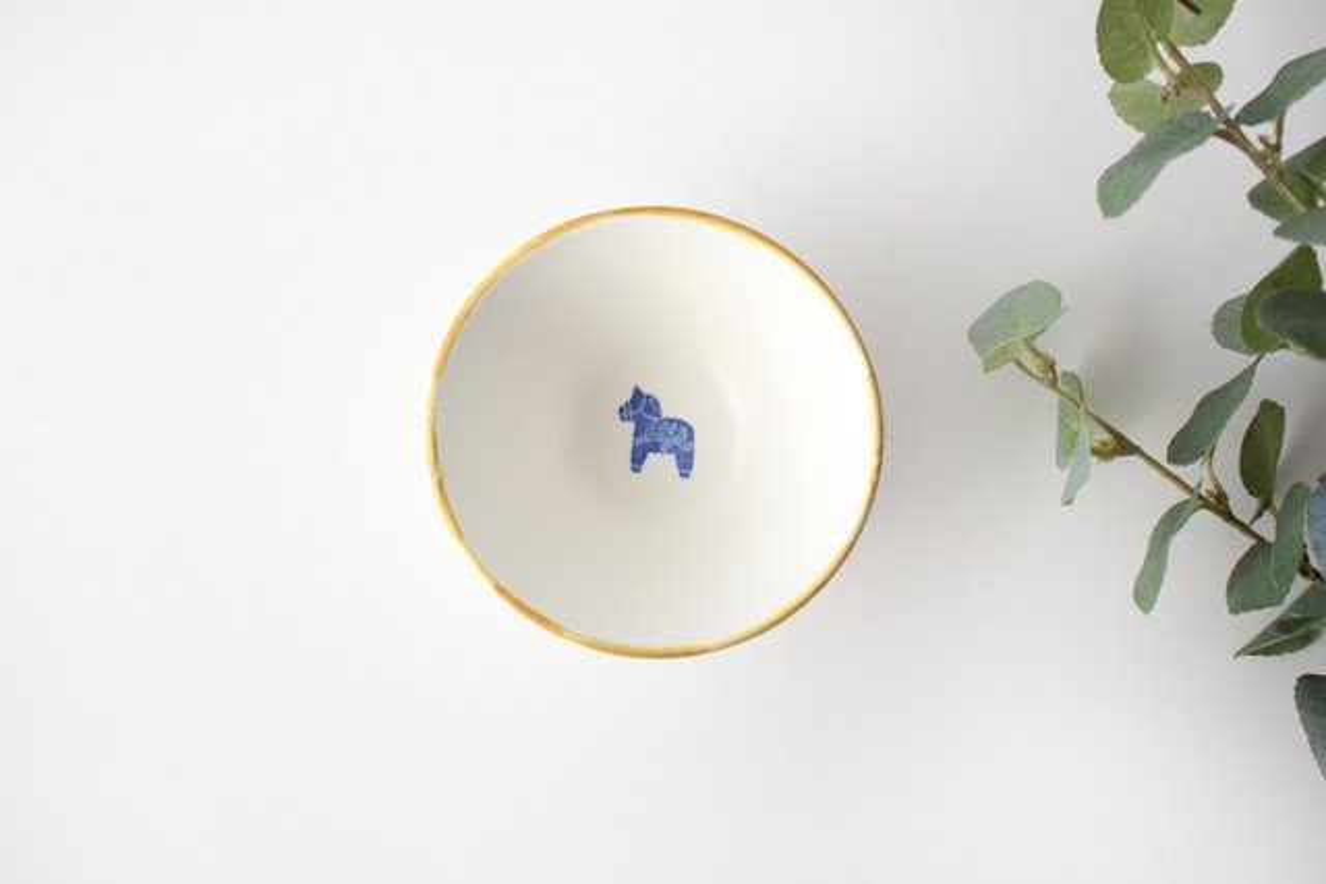ご飯茶碗 小 ウマ 磁器 原村俊之