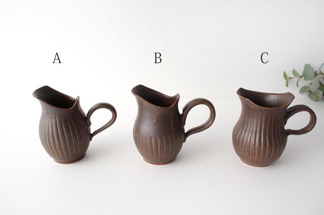 ダークブラウンピッチャー 陶器 中野明彦 画像2
