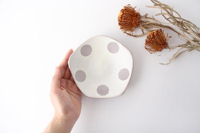 五角皿 水玉マット 陶器 翁明窯元 小石原焼 画像2