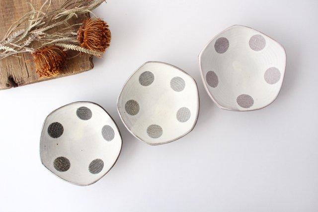 五角皿 水玉マット 陶器 翁明窯元 小石原焼 画像5