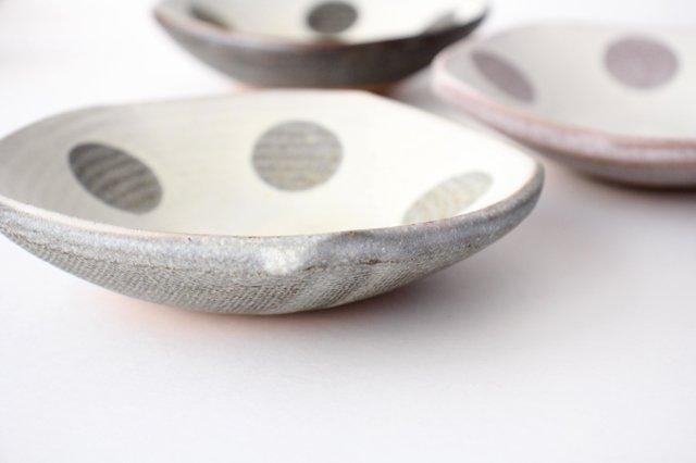 五角皿 水玉マット 陶器 翁明窯元 小石原焼 画像6