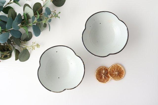 粉引輪花小鉢 陶器 信楽焼 画像2