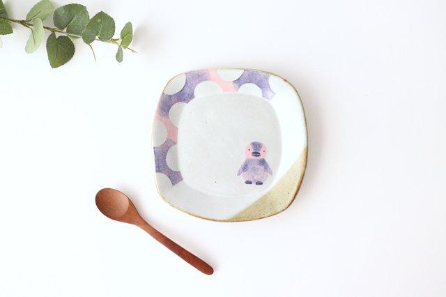ペンギン 角皿 陶器 相澤かなえ