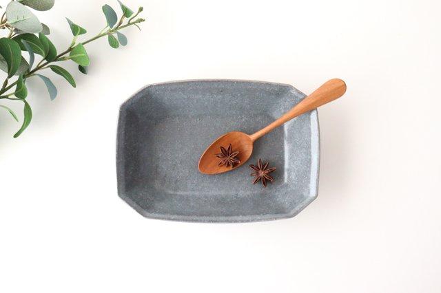 グレー釉 八角深鉢 小 陶器 古谷製陶所
