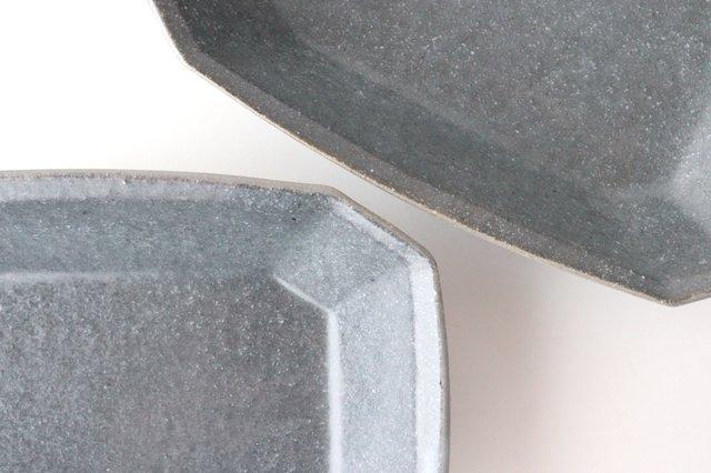 グレー釉 八角深鉢 小 陶器 古谷製陶所 画像2