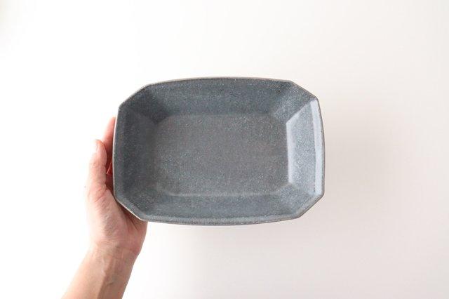グレー釉 八角深鉢 小 陶器 古谷製陶所 画像4