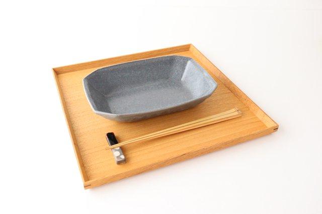 グレー釉 八角深鉢 小 陶器 古谷製陶所 画像5