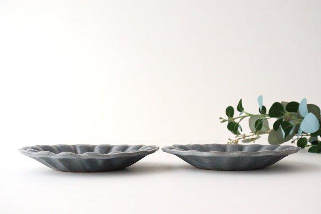グレー釉 輪花深皿 小 陶器 古谷製陶所 画像2