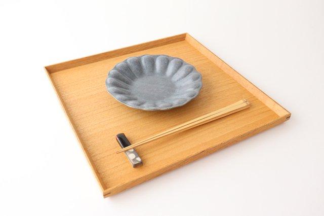 グレー釉 輪花深皿 小 陶器 古谷製陶所 画像3